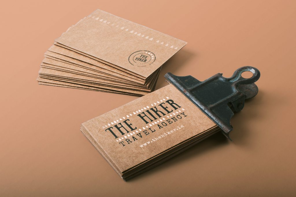 The Hiker - business cards