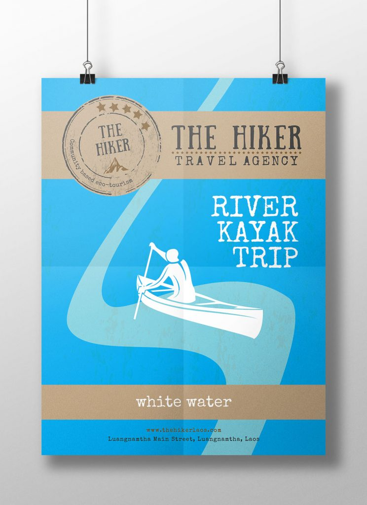 The Hiker - poster white water