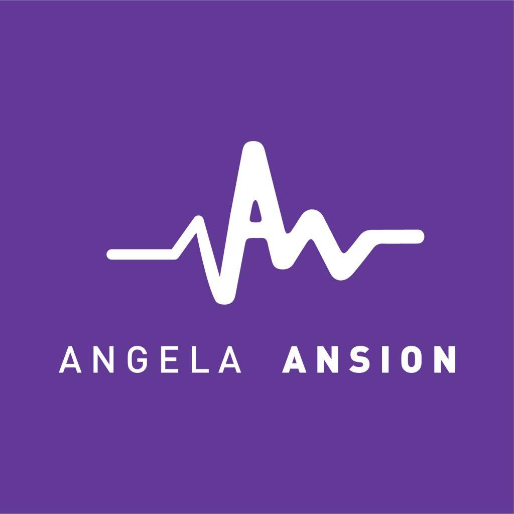 Angela Ansion Logo - Purple BG