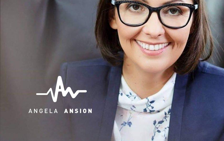 Angela Ansion photo with logo