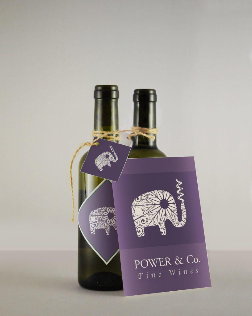 Power & CO Bottle Mockup