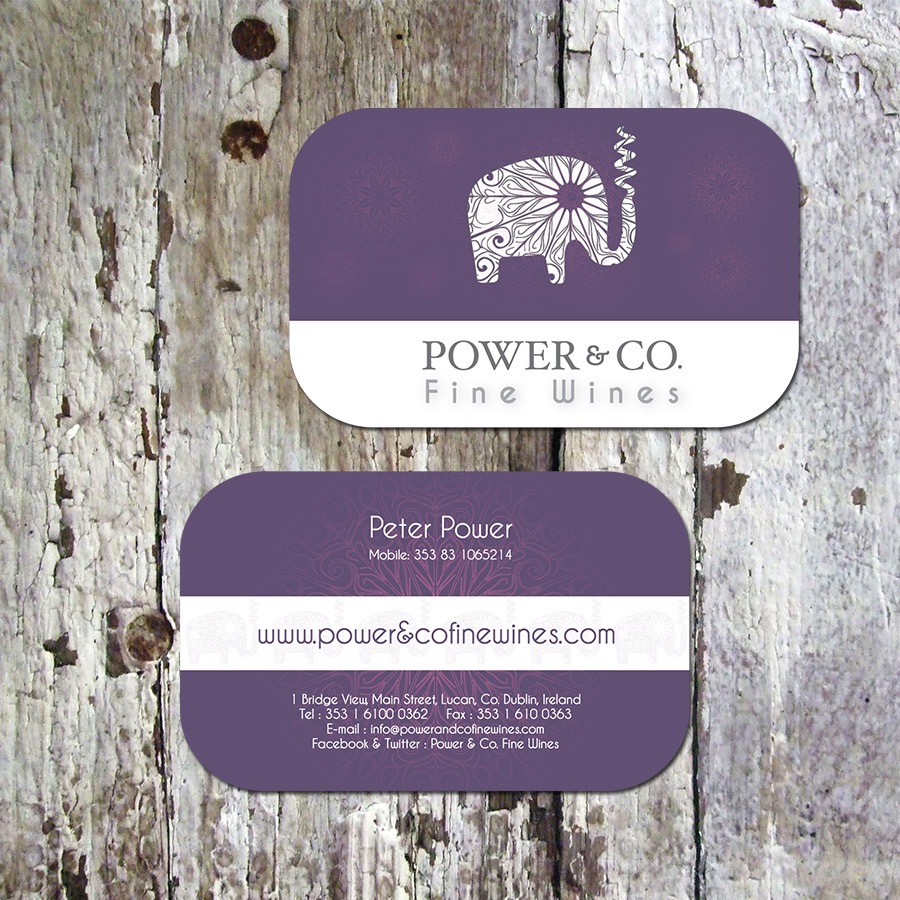 Power & Co. Fine Wines Business Cards