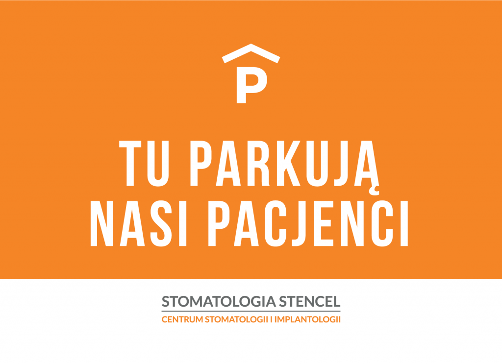 Stencel Sign Parking